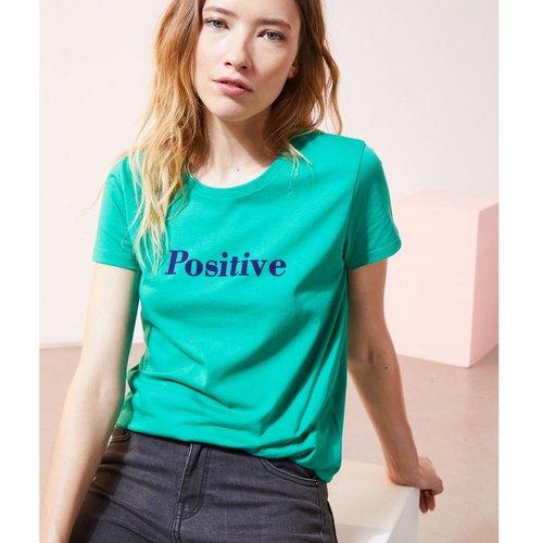 T-shirt col rond manches courtes WORD - ETAM - Modalova