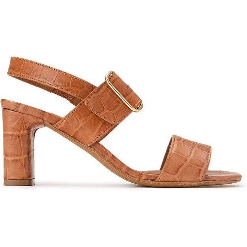 Sandales à talon en cuir motif croco YDRISS - ANTHOLOGY PARIS - Modalova