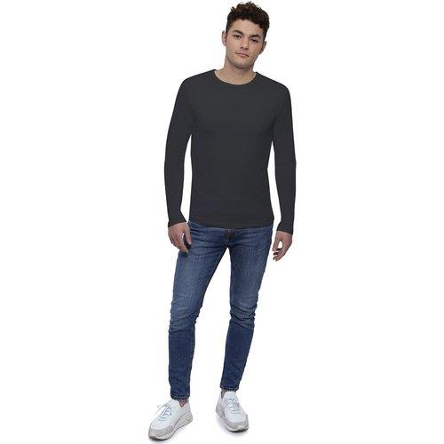 Tee-shirt col rond finition colletage manches longues en modal THOMAS - RENDEZ-VOUS PARIS - Modalova