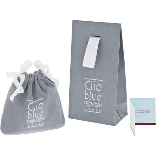 Bague Sissi en argent 925 rhodié, brillants, grenat, 2.8g, T54 - CLIO BLUE - Modalova