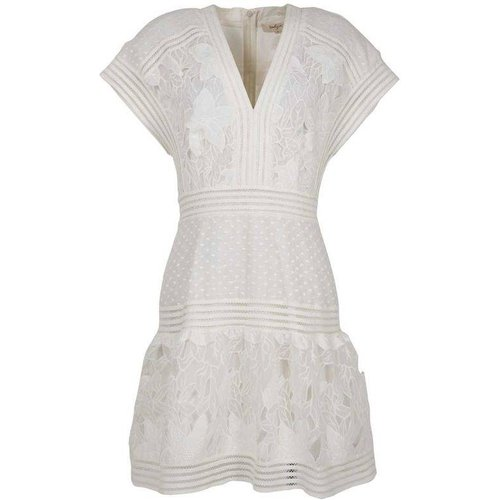 Robe courte plumetis dentelle unie - Acclamation - DERHY - Modalova