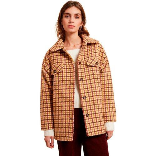 Manteau avec motifs à carreaux et coupe oversize SELVI - FRNCH - Modalova
