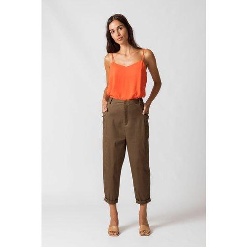 Pantalon en coton bio GUDANE - SKFK - Modalova