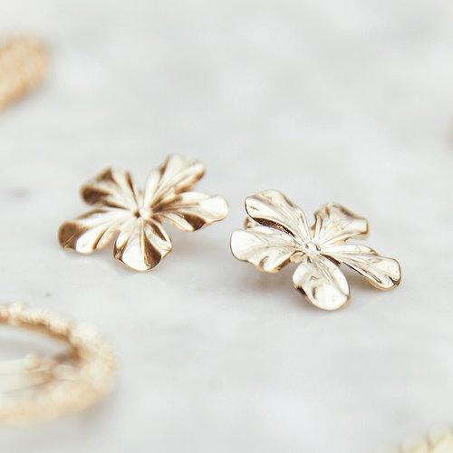 Boucles d'oreilles fleur - BALZAC PARIS X LA REDOUTE COLLECTIONS - Modalova