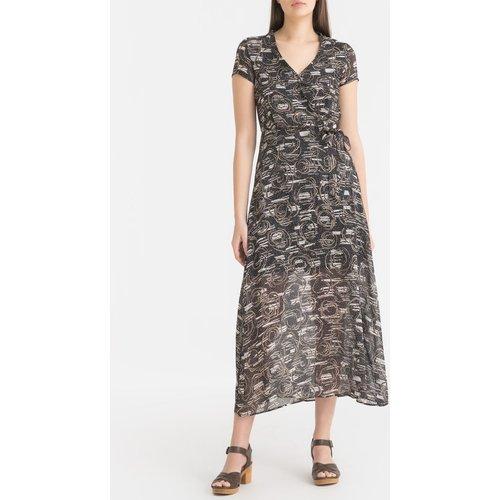 Robe imprimée en voile manches courtes - IKKS - Modalova