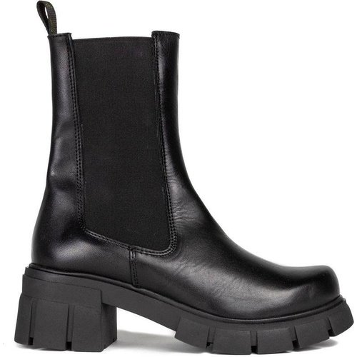Boots Chelsea en Cuir - MARIA BARCELO - Modalova