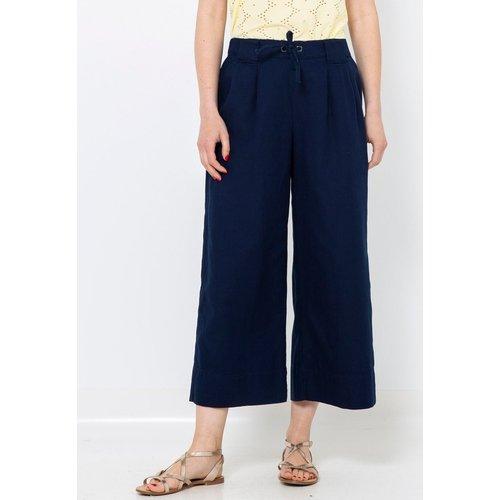 Pantalon large coton - CAMAIEU - Modalova