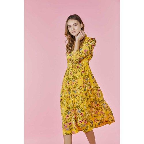 Robe chemise légère imprimée de fleurs champêtres - DERHY - Modalova