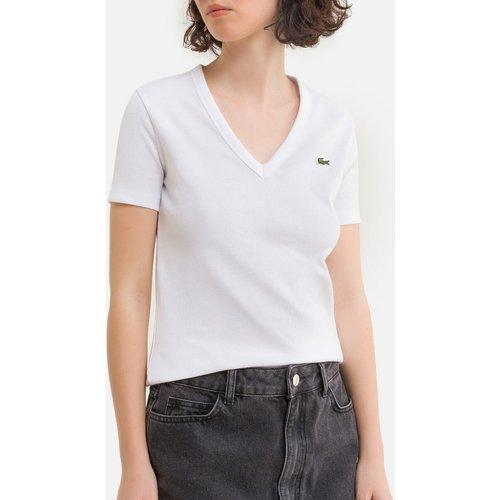 T-shirt col V à logo - Lacoste - Modalova
