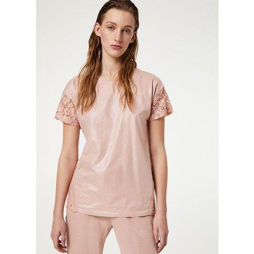 T-shirt avec dentelle - LIU JO - Modalova