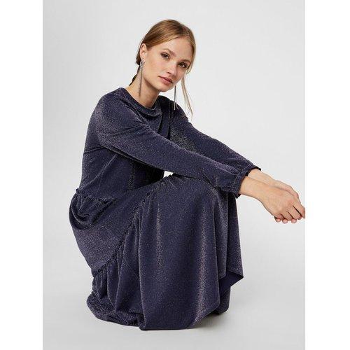 Robe mi-longue à volants Paillettes, viscose mélangée - YAS - Modalova