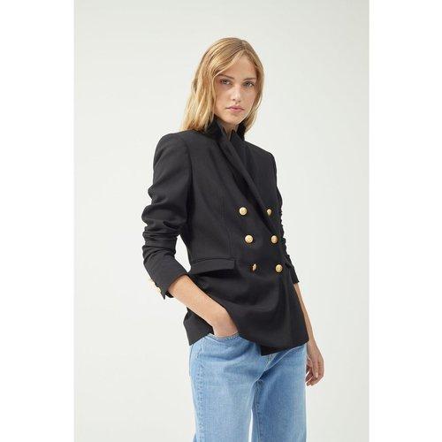 Veste de tailleur croisée en laine - PABLO - Modalova