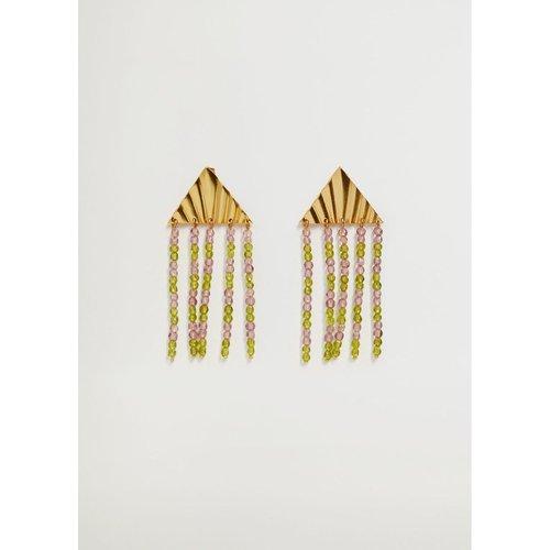 Boucles d'oreilles pendentif perles - Violeta by Mango - Modalova
