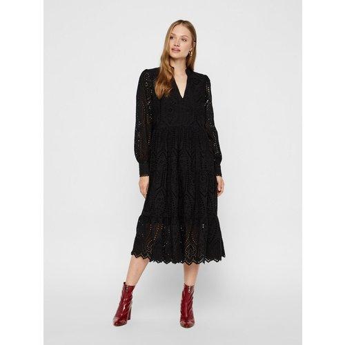 Robe mi-longue Broderie coton biologique - YAS - Modalova