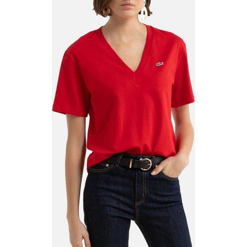T-shirt à col V en coton - Lacoste - Modalova
