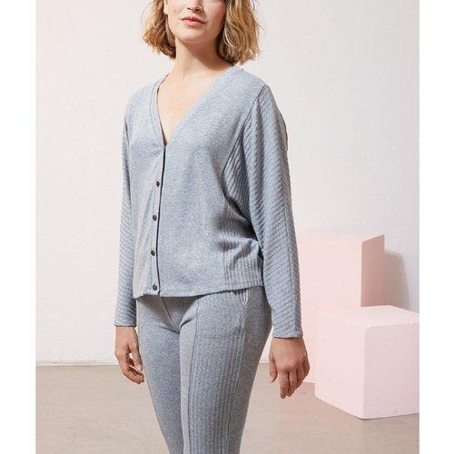 T-shirt de pyjama manches longues boutonné DAYA - ETAM - Modalova
