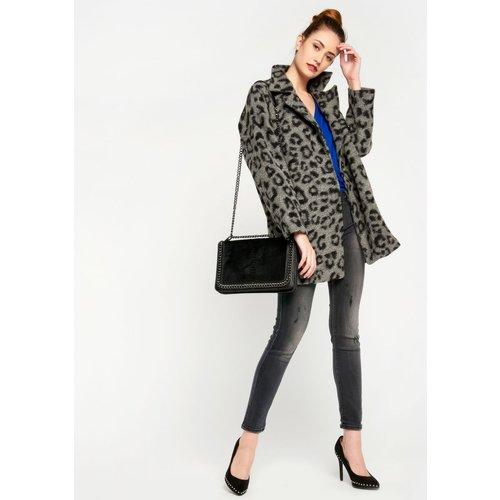 Manteau large, imprimé léopard - LOLALIZA - Modalova