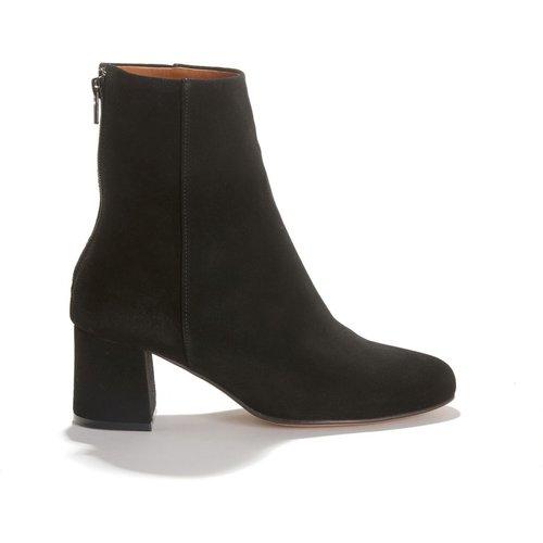 Boots montantes en cuir à talon recouvert DANIELA - ANTHOLOGY PARIS - Modalova