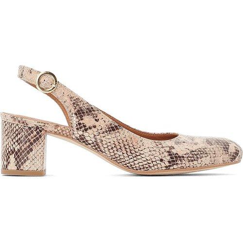 Chaussures bride arrière en cuir effet - BALZAC PARIS X LA REDOUTE COLLECTIONS - Modalova