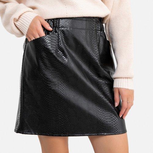 Jupe courte en simili avec poches - MOLLY BRACKEN - Modalova