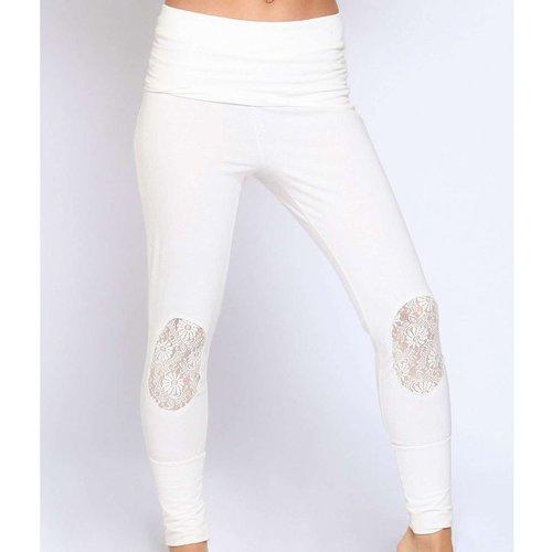 Pantalon Coton Dentelle - BODY ONE - Modalova