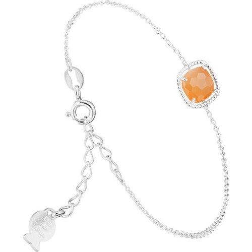 Bracelet chaîne Sissi en argent 925, Pierre de lune, 1.3g - CLIO BLUE - Modalova