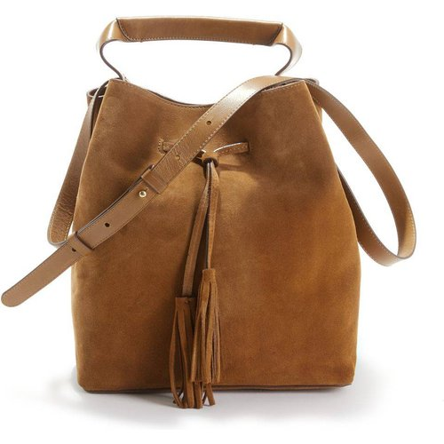 Mini sac seau cuir velours SAXO - Gerard Darel - Modalova