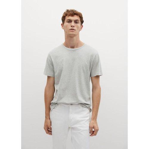 T-shirt basique en coton - mango man - Modalova
