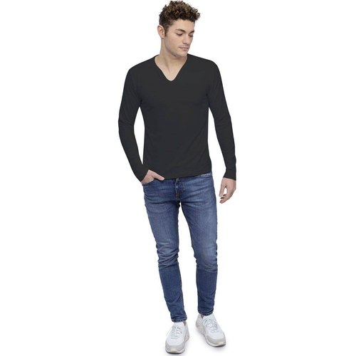 T-shirt col V boutonné manches longues en modal LIAM - RENDEZ-VOUS PARIS - Modalova