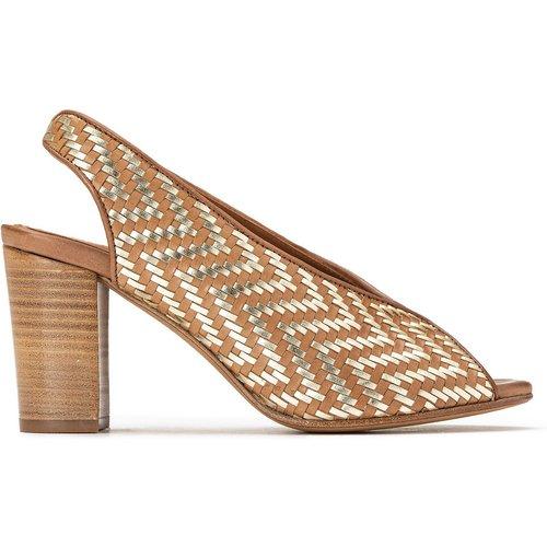 Sandales en cuir tressé à talon - ANTHOLOGY PARIS - Modalova