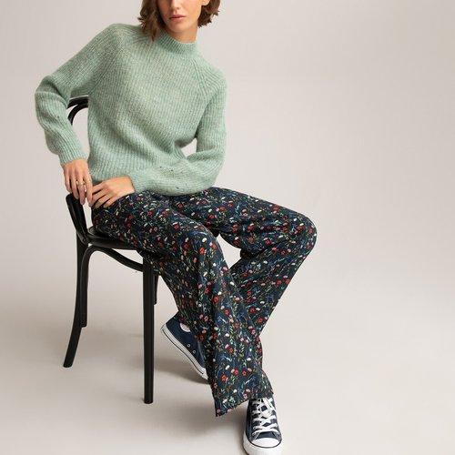 Pantalon fluide large taille haute, imprimé fleurs - LA REDOUTE COLLECTIONS - Modalova