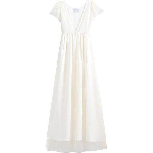 Robe de mariée longue, manches courtes - BALZAC PARIS X LA REDOUTE COLLECTIONS - Modalova