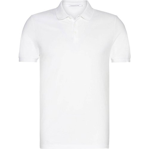 Polo maille piquée coupe slim, manches courtes - Calvin Klein Jeans - Modalova