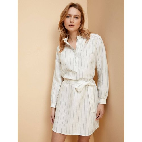 Robe-chemise courte rayée - CYRILLUS - Modalova