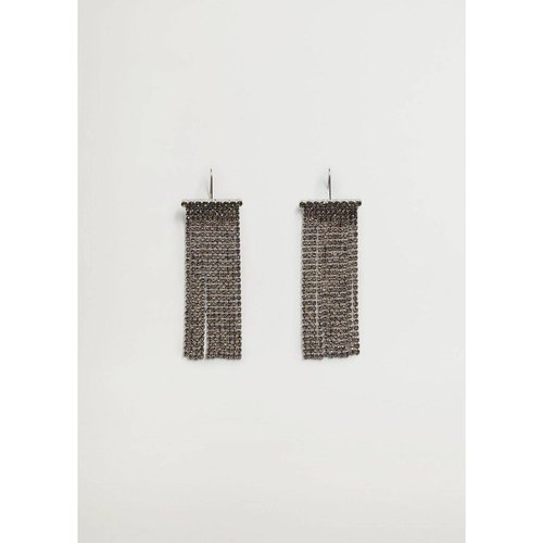 Boucles d'oreilles pendentifs strass - Violeta by Mango - Modalova
