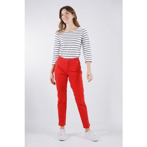 Pantalon 7/8ème en coton tissu gabardine - ARMOR-LUX - Modalova