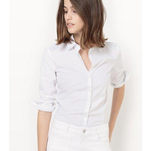 Chemise unie manches longues, col chemise - LA REDOUTE COLLECTIONS - Modalova