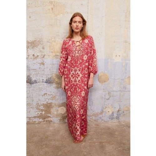 Robe longue en soie imprimée façon tunique? SAHANA - Gerard Darel - Modalova