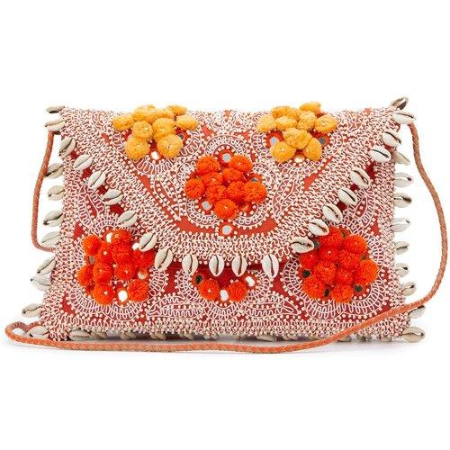 Pochette brodée à perles coquillages JOLIE WALLET - Antik batik - Modalova