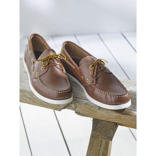 Chaussures bateau cuir - CYRILLUS - Modalova