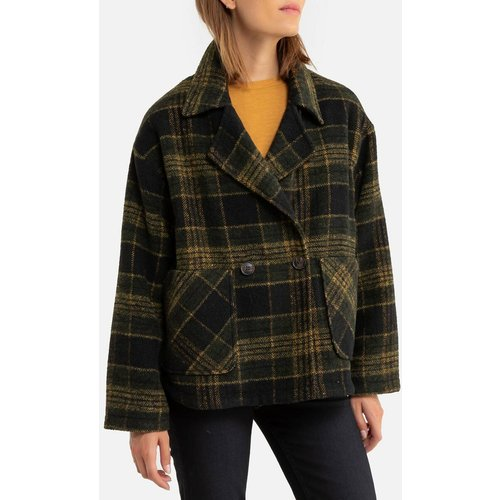 Manteau long, caban à carreaux - SEE U SOON - Modalova