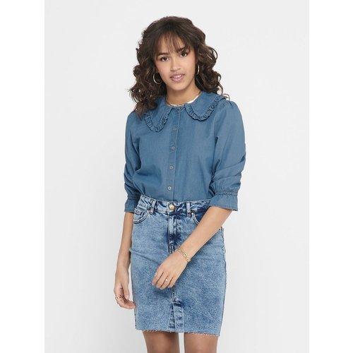 Chemise en jean Col à volants - Only - Modalova