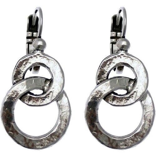 Boucles d'oreilles Dormeuses CIRCLES Made in France - LILI LA PIE - Modalova