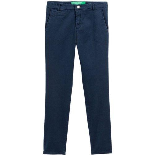Pantalon droit en coton mélangé - Benetton - Modalova