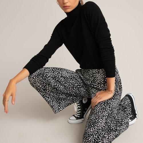 Pantalon fluide large taille haute, imprimé pois - LA REDOUTE COLLECTIONS - Modalova