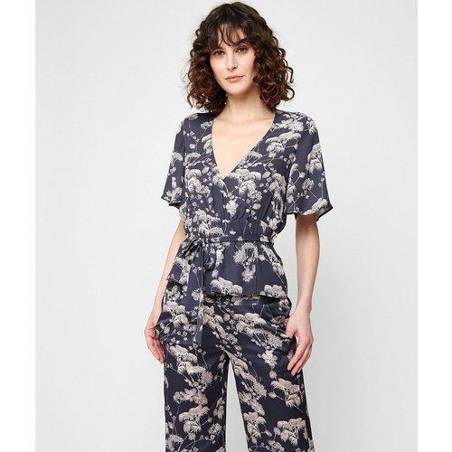 T-shirt de pyjama cache-coeur à manches courtes TOPAZ - ETAM - Modalova