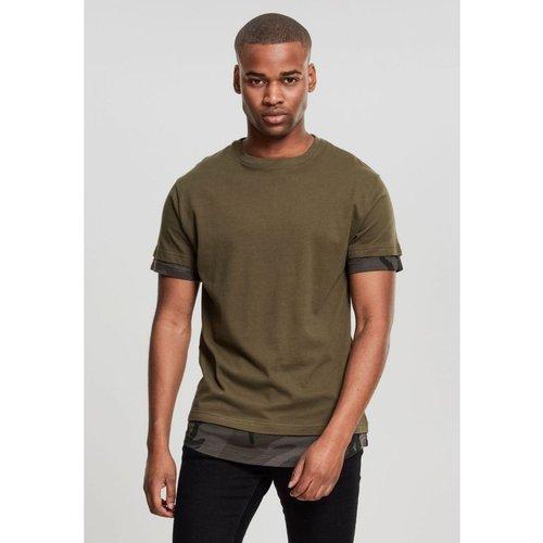 T-shirt long avec empiècement camo - URBAN CLASSICS - Modalova