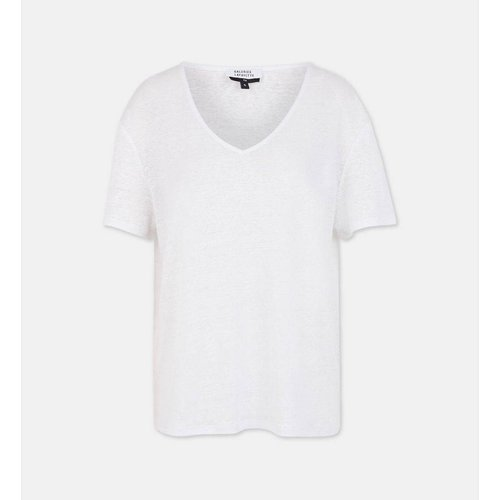 T-shirt Nada Ample En Lin Col V - GALERIES LAFAYETTE - Modalova
