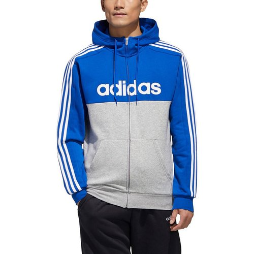 Sweat zippé à capuche colorblock logo - adidas performance - Modalova