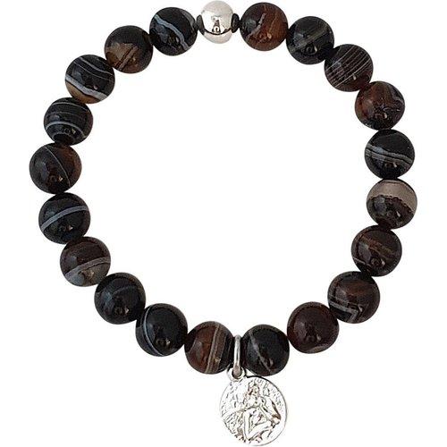 Bracelet pierres naturelles agate zèbre SERENITY - SECRETS DES ANGES - Modalova